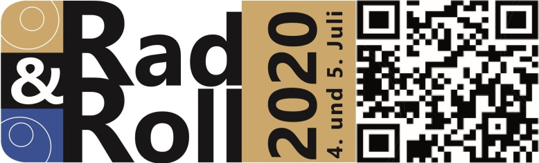 Logo mit Datum und QR-Code